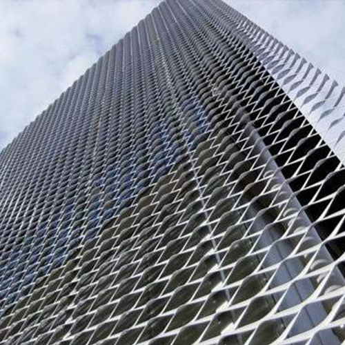Facade Cladding Decorative Aluminum Expanded Metal Mesh